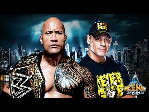 WWE WrestleMania 29 John Cena vs The Rock Promo Theme Song-Letters From The Sky.