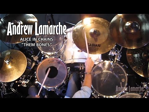 "Alice in Chains ""Them Bones"" - Andrew Lamarche (Drum Cover)"