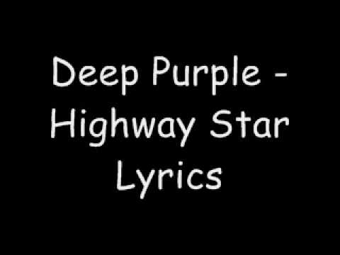 Deep Purple - Highway Star (lyrics)
