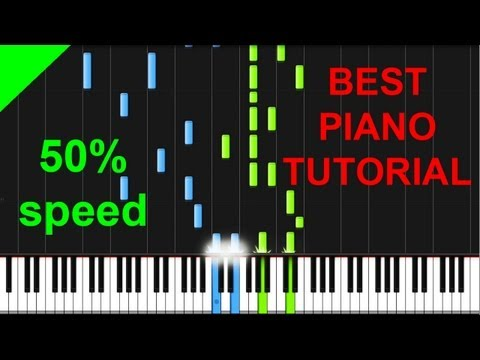 Awolnation - Sail 50% speed piano tutorial
